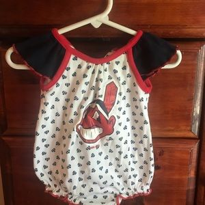 Cleveland Indians rompers